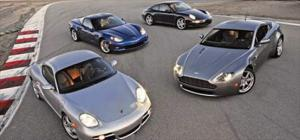 2006 Porsche Cayman S, Chevrolet Corvette Z06, Porsche 911 Carrera & S, Aston Martin V8 Vantage - Luxury Sports Coupe Comparison - Motor Trend