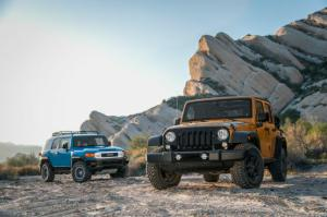 2014 Jeep Wrangler Unlimited vs. 2014 Toyota FJ Cruiser - Motor Trend