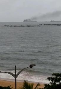 Algumas pessoas chegaram a cogitar que havia um incêndio no navio, informação negada pela Codesa