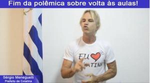 O anúncio foi feito pelo prefeito Sérgio Meneguelli (Republicanos) em um vídeo publicado no início da tarde desta terça-feira (29)
