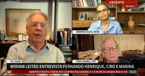 Ex-presidente e ex-ministros debateram o momento político do Brasil em programa de televisão neste domingo (7)