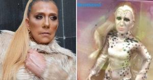 Vilã do próximo filme da Mulher Maravilha acabou sendo comparada à artista Rita Cadillac após foto bombar nas redes sociais