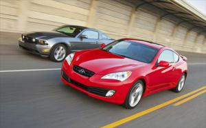 2010 Ford Mustang GT vs. 2010 Hyundai Genesis Coupe vs 2009 Nissan 370Z - Specs and Test Data - Comparison - Motor Trend