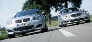2005 BMW M5 vs. 2005 Mercedes-Benz e55 AMG - Full Metal Rockets - Luxury Road Test - Motor Trend