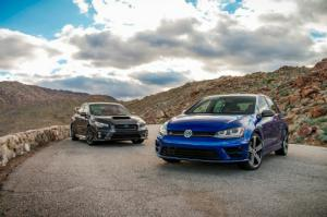 Ford Focus RS - 2015 Subaru WRX STI vs 2015 Volkswagen Golf R