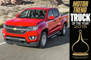 Work Truck - 2015 Chevrolet Colorado is the 2015 Truck of the Year