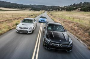 2015 BMW M3 vs. 2016 Cadillac ATS-V Sedan vs. 2015 Mercedes-AMG C63 S Comparison - Motor Trend