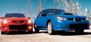 2007 MazdaSpeed3 vs. 2006 Subaru Impreza WRX - Sedan & Wagon Comparison - Motor Trend
