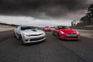 Chevrolet Camaro Z/28 vs. Porsche 911 Turbo S vs. Nissan GT-R Comparison - Motor Trend