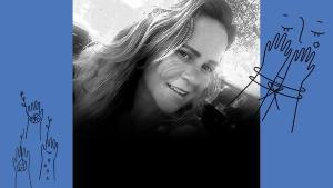 Edina Martins de Souza Gimenez, morta com uma facada no peito, tinha acabado de se tornar avó e vendia empadas na praia. O marido dela é o principal suspeito do crime