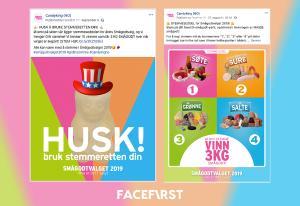 Hvordan Facefirst skapte stort engasjement hos unge voksne under kommunevalget 2019!