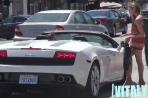 Watch a Creepy Dude Attempt to Pick Up Women in a Lambo - Motor Trend