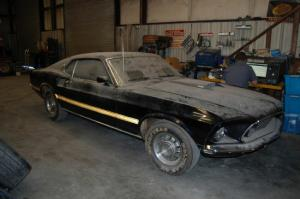found cobra jet mustang hidden in basement for 28 years - Mighty Ford F 750 Tonka