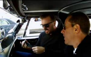 Comedians in Cars: Seinfeld Talks with Ricky Gervais in 1967 Austin Healey 3000