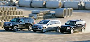 2007 Cadillac Escalade AWD vs. 2006 Land Rover LR3 HSE vs. 2007 Mercedes-Benz GL450 Engines - Full Size SUV Road Test Comparison - Motor Trend