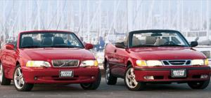 2000 Volvo C70 vs. 2000 SAAB 93 - Ratings - Motor Trend