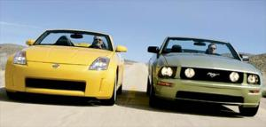 2005 Nissan 350Z Roadster vs. 2005 Ford Mustang GT Convertible - Compact Sport Convertibles Comparison - Motor Trend
