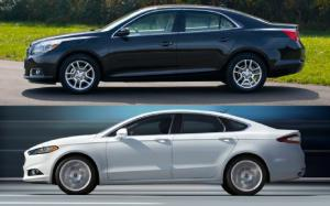 Blue Oval vs. Bowtie: 2013 Fusion and 2013 Malibu, By the Specs