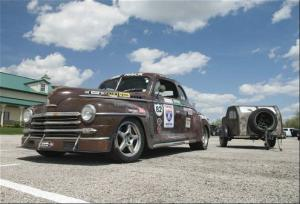 1948 Plymouth Coupe -- Glenn Dodd, Mike Stein, and Charles Lovelady - One Lap of America 2009 - Motor Trend