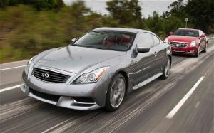 2011 Cadillac CTS Coupe vs 2010 Infiniti G37 Coupe Wallpaper - Motor Trend