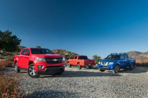 Comparison: Chevrolet Colorado vs. Nissan Frontier vs. Toyota Tacoma