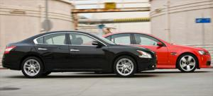 2009 Nissan Maxima 3.5 SV vs. 2008 Pontiac G8 GT - Specifications - Comparison Test - Motor Trend