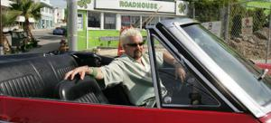 Food Network Celebrity Chef and car junkie Guy Fieri is a true Bow-Tie guy - Favorite Road Trip - Celebrity Drive - Motor Trend