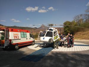 O serviço utiliza o helicóptero do Notaer e de acordo com a médica e coordenadora geral do Samu, Julianna Vaillant, atende, principalmente, chamados clínicos