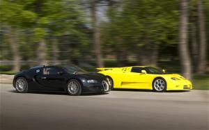 2010 Bugatti Veyron vs 1992 Bugatti EB 110 SS Engine and Transmission - Motor Trend