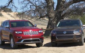 Jeep Grand Cherokee EcoDiesel and Volkswagen Touareg TDI Go Head 2 Head