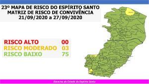 Com a redução da taxa de ocupação dos leitos de UTI, associada à melhoria de outros indicadores, 75 cidades entram no menor nível de risco para a doença