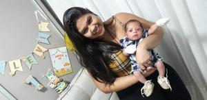 Mesmo com toda a precaução, Rafaela Rangel foi contaminada e teve que fazer cesárea com 36 semanas de gestação