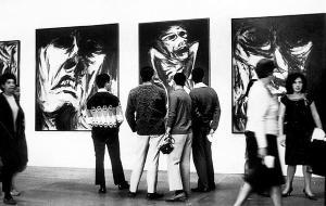 Pintor desconcertante, seus quadros de 1964 retratam rostos disformes, quase sempre a esboçar um grito, ou, ao menos, a expressão de uma dor lancinante