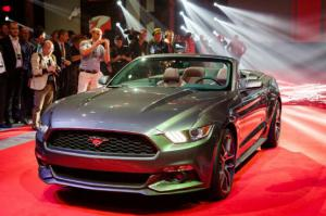 Quick Peek of the 2015 Ford Mustang Convertible at NYC Reveal - Motor Trend WOT