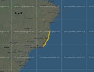 Atuação do ciclone subtropical localizado no mar do litoral Sul do Estado fez com que o Instituto nacional de Pesquisas Espaciais emitisse um aviso para rajadas fortes de vento até a noite desta quarta-feira (26)
