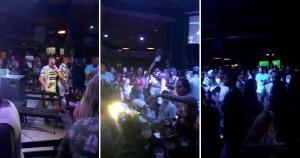 Aglomeração de pessoas chamou a atenção de internautas que acompanhavam live show de grupo de pagode direto de bar de Vila Velha