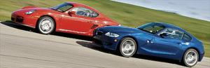BMW Z4 M Coupe vs. Porsche Cayman S Virtual Road Test & Car Racing Game - Motor Trend