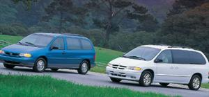 '96 Dodge Grand Caravan ES Vs. Ford Windstar LX - First Test - Motor Trend