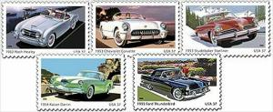 '50s Sporty Cars' Postage Stamps Roll Out Of Detroit - Motor Trend News