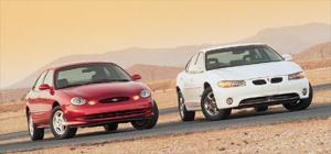 '97 Ford Taurus Sho VS. '97 Pontiac Grand Prix GTP - Road Test - American Car - Specifications - Motor Trend Magazine