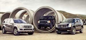2007 Cadillac Escalade AWD vs. 2006 Land Rover LR3 HSE vs. 2007 Mercedes-Benz GL450 - Full Size SUV Road Test Comparison - Motor Trend