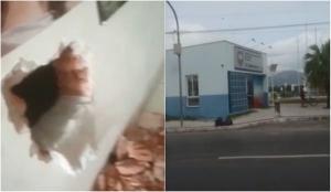 Criminosos arrombaram uma ótica, fizeram um buraco na parede e invadiram uma relojoaria, furtando objetos do local na madrugada desta segunda-feira (19). Do outro lado da rua, existe uma base de apoio da PM no Centro de Guarapari