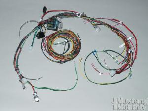 how to install a new wiring harness for your ford mustang 1965 1968 ford mustang wiring system upgrades mustang monthly magazine