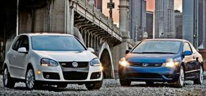 2006 Honda Civic SI & 2006 Volkswagen GTI - Midsize Coupe Comparison - Motor Trend