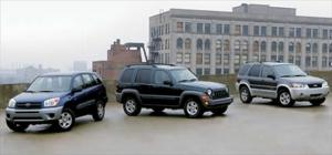 2005 Toyota RAV4 L vs. Jeep Liberty CRD vs. Ford Escape Hybrid SUV Reviews - Motor Trend