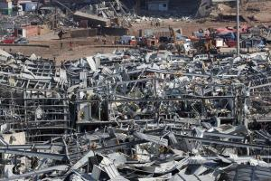 De acordo com o premiê do Líbano, Hassan Diab, o incidente foi causado por 2.750 toneladas de nitrato de amônio estocadas na região portuária há seis anos
