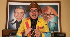 Filho mais velho do humorista, Hugo De Rossi, também testou positivo para o novo coronavírus; Rossini fez vídeo para tranquilizar fãs no Instagram