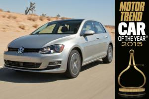 2015 Volkswagen Golf is the 2015 Motor Trend Car of the Year