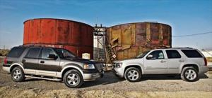 2007 Chevrolet Tahoe LTZ vs. 2006 Ford Expedition King Ranch - Full Size SUV Comparison - Motor Trend