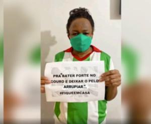 """De doações a vídeo de conscientização com frases como """"O samba não pode parar! #fiqueemcasa"""", as agremiações se mobilizam contra a Covid-19; veja o vídeo"""